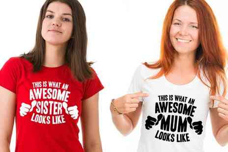 Groupon Goods Global GmbH - Awesome Relative Tshirts in Choice of Colour and Size - Save 41%