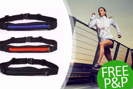 Aneeks - Running belt with large pocket Free Pnp - Save 70%
