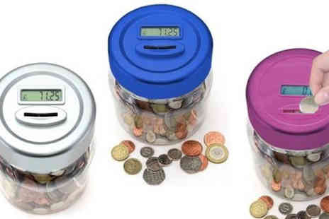 TLD Marketing - Digital LCD Coin Counting Jar in 3 Colours - Save 54%