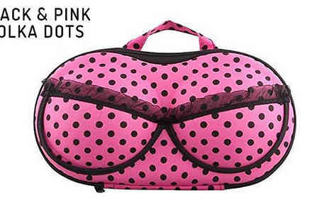 Jewleo - Bra Shaped Lingerie Travel Case in 6 Designs - Save 68%