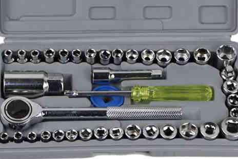 TLD Marketing - 40 Piece Socket Set With Case - Save 83%