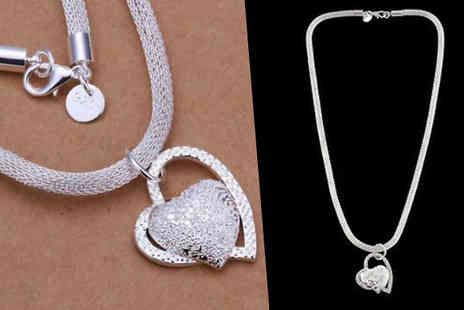 Jewleo - Double Love Heart Necklace - Save 75%