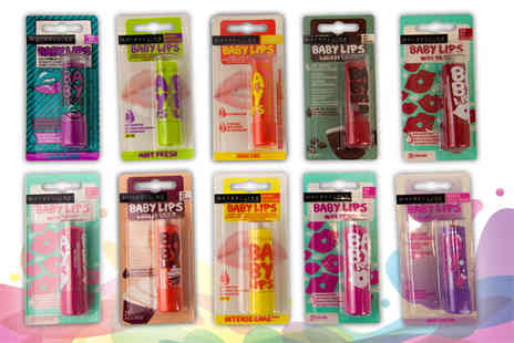 GB GIFTS - Five pack of assorted Maybelline Baby Lips lip balms - Save 65%