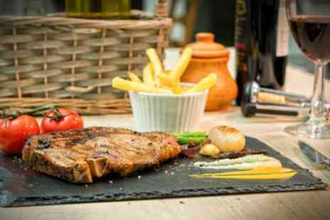 The Owston - Sirloin Steak Meal with a Bottle of Wine to Share for Two or Four - Save 41%