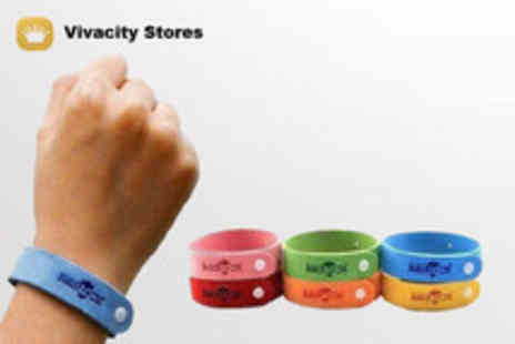 Vivacity Stores - Two mosquito repellent bands, available in four colours  - Save 75%