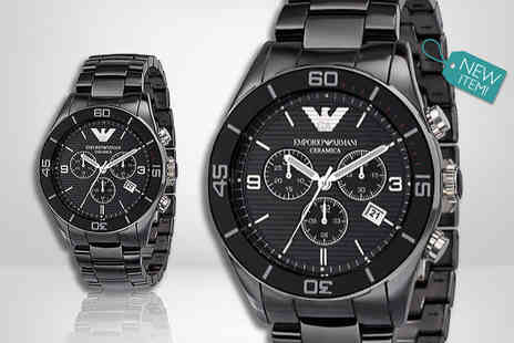Gray Kingdom - Mens Emporio Armani luxury AR1421 watch - Save 69%