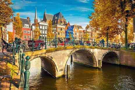 Tour Center - Two or three night Amsterdam break with daily breakfast and flights - Save 42%