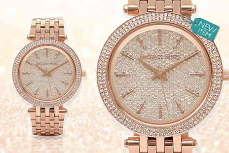 GK1706 - Ladies MK3439 Michael Kors crystal Darci watch - Save 52%
