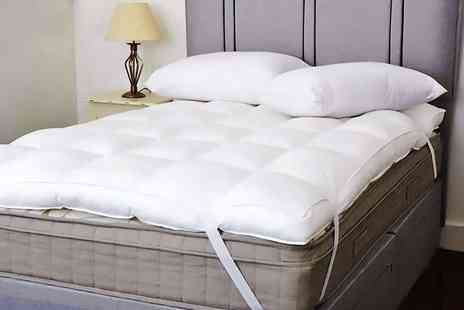 Diana Cowpe - Single, double, king or super king size goose feather and down mattress topper - Save 71%