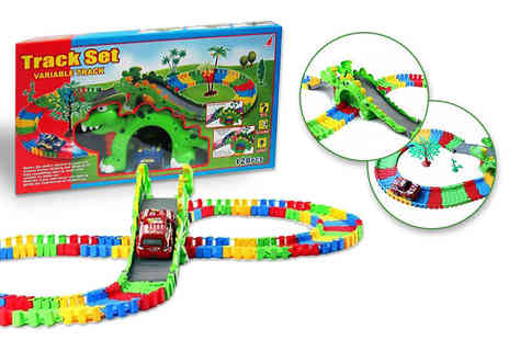 Toys Wizard - Battery operated dinosaur play track set - Save 60%