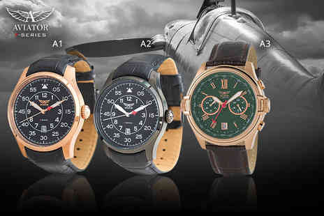 Brand Logic - Aviator watch choose from 12 styles - Save 79%