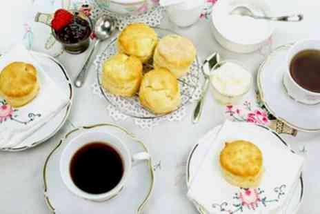 Time For Tea - Cream Tea for Two or Four - Save 45%