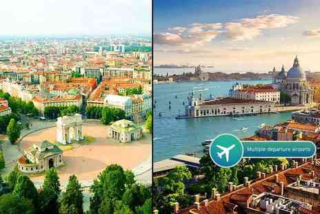 Crystal Travel - Four or six night Venice and Milan break with flights and train transfers - Save 43%