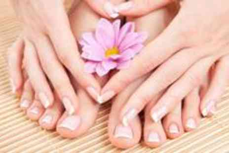 The Hair and Beauty Lounge - Shellac manicure and pedicure - Save 77%