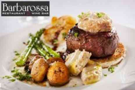 Barbarossa - Two Courses of Mediterranean Cuisine For Two With Canapes and Cocktails - Save 52%
