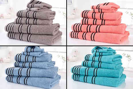 Linens R Us - Six piece Sirocco towel bale choose from four colours - Save 66%