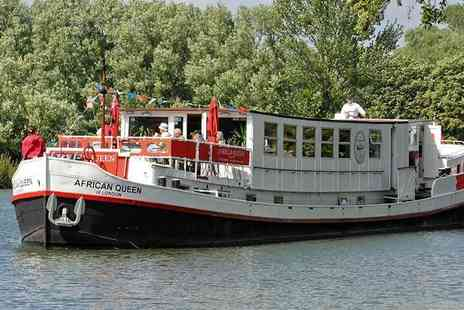 African Queen - Two night moored boat stay for two on the Thames including daily breakfast, a river cruise and glass of welcome bubbles - Save 52%
