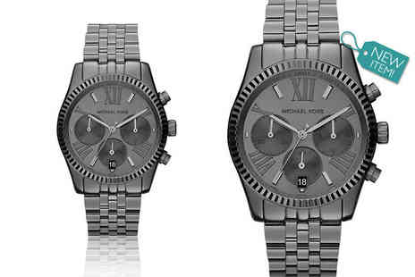 Gray Kingdom - Ladies Michael Kors black Lexington MK5709 watch - Save 61%