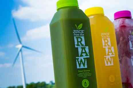 Juice From The Raw - Three Day Cold Pressed Juice Cleanse With Free Delivery - Save 50%