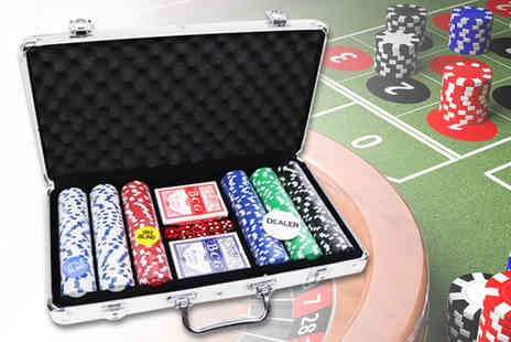 Who Needs Shops - 300 piece poker set and casino style case - Save 80%