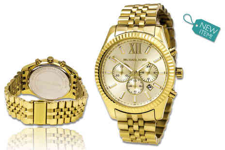 GK1706 - Mens Michael Kors gold Lexington chronograph watch - Save 54%