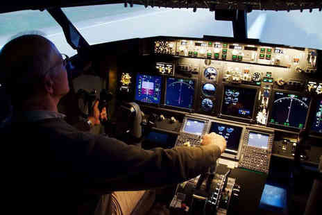 Airavana Flight Simulators - 60 minute Boeing 737 flight simulator experience for one - Save 46%