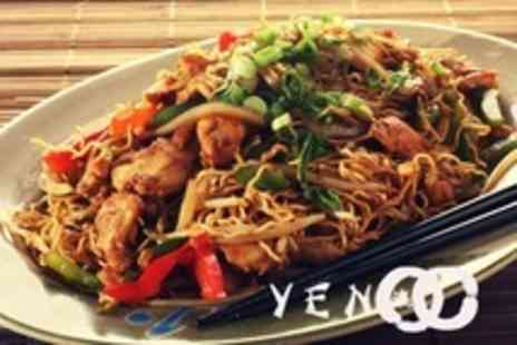 Yen Teppanyaki - Oriental Sharing Platter and Main Course Plus Glass of Wine for Four People - Save 62%