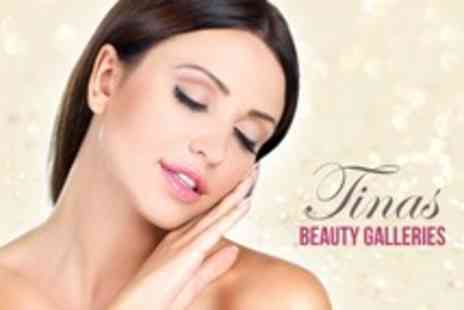 Tinas Beauty Galleries - Facial Treatment With Pedicure and Mini Manicure - Save 66%