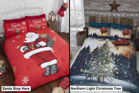 Groundlevel - Single Christmas themed duvet set choose from four designs - Save 65%