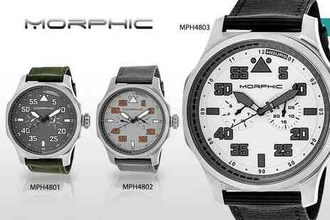 Idealdeal - Mens luxury Morphic M48 series watch choose from five designs - Save 86%