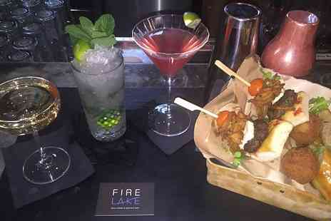 Fire Lake - Cocktail Masterclass with Refreshments for One, Two, Four or Ten - Save 38%