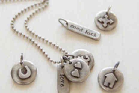Kutuu - New season pewter necklace or bracelet and 3 charms - Save 50%