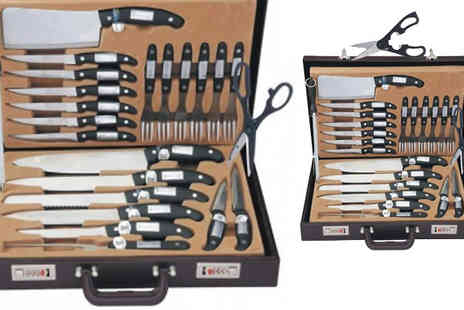 DML Solutions - 24 Piece Knife Set With Briefcase - Save 78%