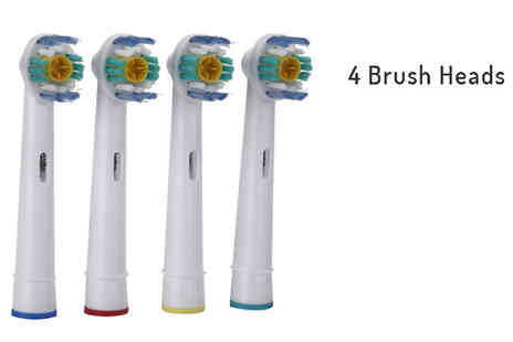 GPSK Ltd - Electric Toothbrush Heads Compatible with Oral B Braun 4, 8 or 12 - Save 70%