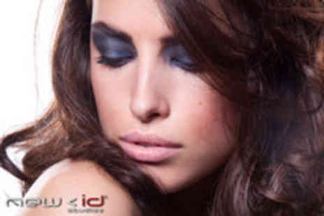 New ID Studios - Glam n Go package including wash, blow dry, style & makeup - Save 80%