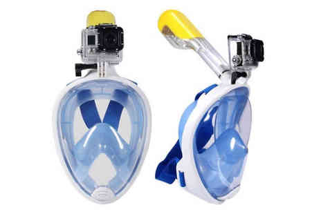 EFindbest - Snorkel Mask With GoPro Compatible Mount in 2 Sizes, 3 Colours - Save 70%