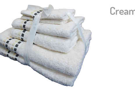Essence Fashion - 6 Piece Egyptian Towel Set in 5 Colours - Save 70%
