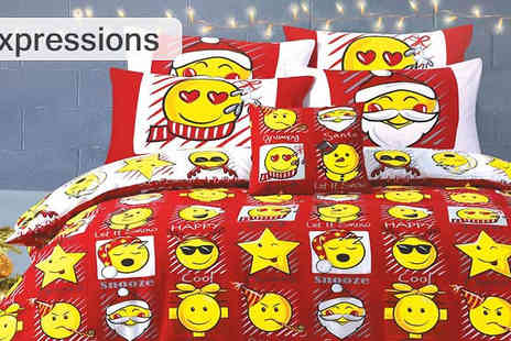 Essence Fashion - Christmas Themed Duvet Set in 3 Designs - Save 52%