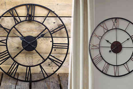 Funky Buys - Cast Iron Garden Wall Clock in 2 Sizes - Save 70%