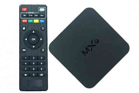 H&C Electronics - Android 1080P Quad Core Wi Fi Smart TV Box - Save 52%
