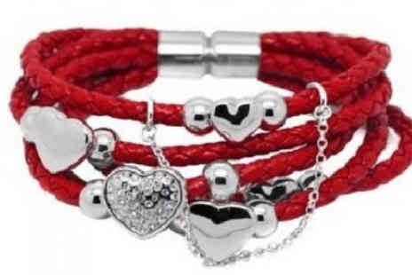 YEPKO - Swarovski Elements Love Heart Wrap Bracelets 4 Colours - Save 80%