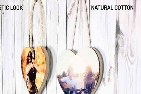 Your Perfect Canvas - 3pc Personalised Hanging Hearts in 2 Styles - Save 77%