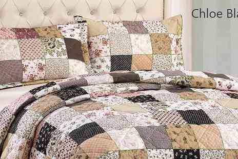 Rynz Collection - Patchwork Chloe Cotton Bedspread Set - Save 28%