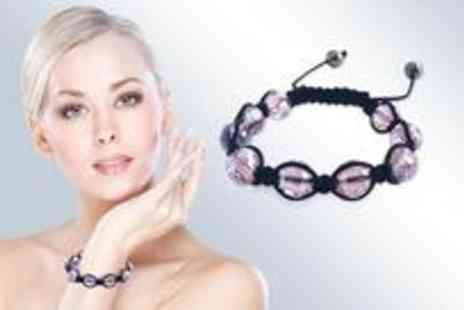 Jewellery Select - Pink crystal bracelet - Save 88%