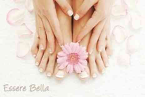 Essere Bella - Two Beauty Treatments Such as Hot Stone Massage and Manicure - Save 70%