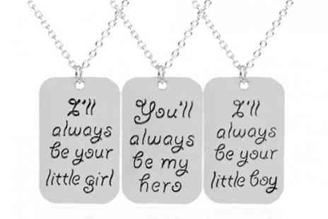 YEPKO - Always Be Inscription Necklace in 3 Designs - Save 78%