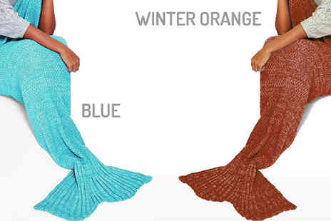 Envy Boutique - Adult Sized Over Shoulder Mermaid Tail Blanket in 6 Colours - Save 68%