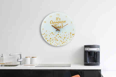 Direct 2 public - Its Champagne Time Wall Clock - Save 75%