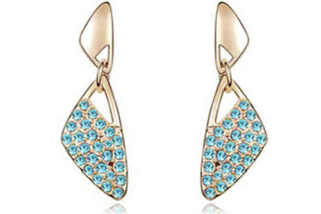 Jewleo - 18K Gold Plated Pierced Earrings in 5 Colours - Save 82%