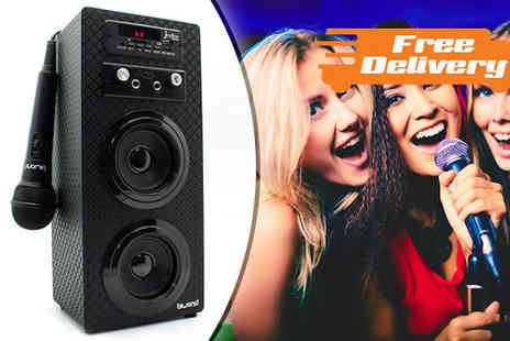 Karpe Deal SL - Karaoke Box with Bluetooth, Radio and Microphone plus Free Delivery - Save 31%